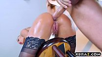 Fresh pornstar Kenzie Taylor butt fucked by a big penis