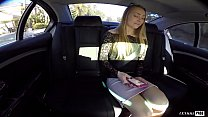 Cute Blonde Sadie Blair Fucks Her Boober Driver and gets busted by the cops for real, all caught on video!