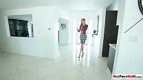 Busty redhead stepmom blows her stepson in the shower thumbnail