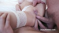 Gape addicts Francys Belle & Ginger Fox rough DAP balls deep and squirting video