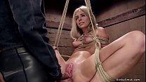 Petite slut anal toyed and fucked