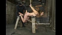 Redhead tied in rope in various positions in bondage punishment video (Stop jerking off! Visit RealOne24.com)