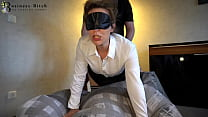 hot office clerk in stockings used for blowjob ...