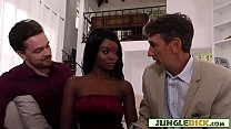 Husband Shares His Hot Black Wife With Sex Educ...