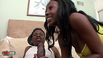 ebony babes Dvae & Anita Peida hardcore threesome with Jon Q