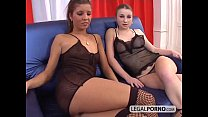 Cum-swapping babes take a load in mouth SL-24-01