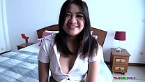 Cute fat Thai girl loves to suck cock and get fucked doggy style