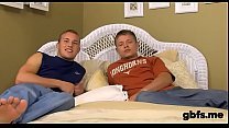 Gay paramours fuck in daybed