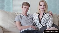Blond Wife Adry Berty Fucks a Stud in Front of Her Loser Husband Preview