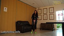16390 Mature Shiny Catsuit Domina Herrin Carmen Rollenspiel Transformation zum Eunuchen preview