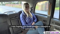 Blondie passenger fucked by nasty driver in the car preview image