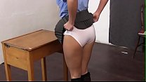 Bend over the desk