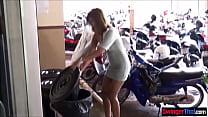 Thai amateur MILF sucks and fucks her neighbors cheating husband