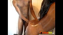 Real African Amateur Friends take a hot shower صورة