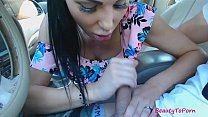 Screenshot Amateur Beauty  Gives Short Blowjob In The Car wjob In The Car,