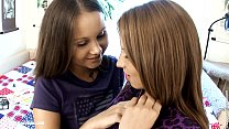 y. Dulce and Malin from Sapphic Erotica lesbian fuck with a dildo on th