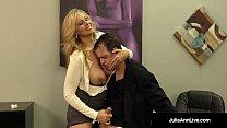 Busty Blonde Milf Julia Ann Milks Cum From Rock Hard Dick! thumbnail