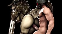 Deathclaw fucking and assjob