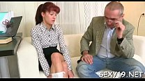 Babe is having wild threesome with stud and elderly teacher Image