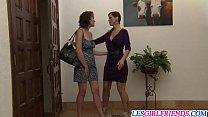 Lesbian gals Veronica Snow and Syren De Mer