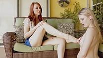 Foot Girl Worships Boss Poolside With Goddess K