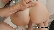 POV fucking blonde perfection on private audition