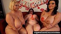 Hot BBWs Angelina Castro Sam 38G & Trinity Finger Bang Twats