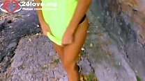 Sexy girl squirt on her big ass after russia