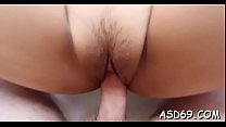 Talented asian gal sucks a jock and grinds on it hard