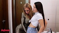 Lil Lesbian (Hayli Sanders) worships milf Nathaly Cherie - DogHouse Digital
