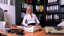 Vivian Schmitt in her role as chief secretary & secret boss Fr. Schmitt