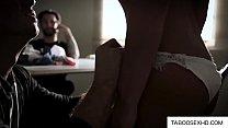 lesbian massage videos ⁃ hot brunette fingered during border control thumbnail
