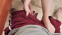 Busty redhead cougar Summer Hart is always ready to help her stepson including his sexual needs. thumbnail