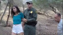Teen immigrant crossed the border to fuck the border patrol