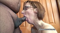 Horny housewife Layla Redd is blowing a dude sh...