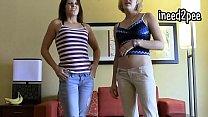 Lela and Li both peeing their jeans pants 2015 thumbnail