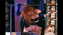 Redhead fucking in gloves and a latex uniform thumbnail