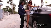 Mindblowing tranny takes giant cock
