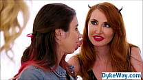 Lesbian threesome with hot milf