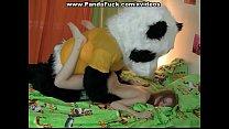Fun fucking with a big toy bear