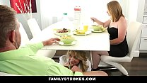 Daddy fucks step daughter when mommy leaves