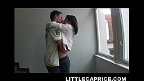 Little Caprice hooks up with some guy at the street and takes him home