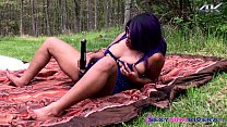 Nina Rivera and Layla Red having girl fun in nature: fit anal thumbnail