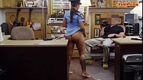 Busty police officer pawns her stuff and nailed to earn cash thumbnail