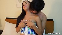 Thai brunette, Niew had sex in front of the camera