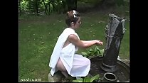 Fantasy For Brunette And Bald Lover Outdoors In...
