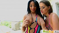 PrimeCups Big boobed girlfriends play with each other Image