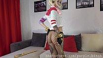 PURPLE BITCH ANAL Harley Quinn cosplay FUCK MACHINE - 69VClub.Com