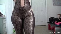 latex body suit cant contain this booty video