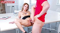 LETSDOEIT - Office Teen Secretary Monika Phamous Bangs At The Office With The Pizza Delivery Guy